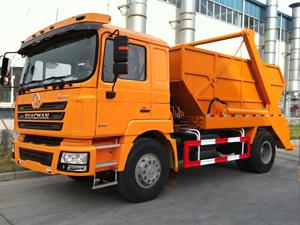 shacman swept body refuse truck