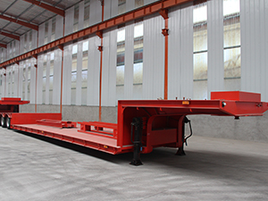 3 axle 60 ton lowbed trailer with air suspension