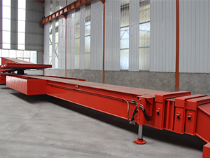 Hydraucli Telescopic Extendable flatbed semi trailer for wind blade
