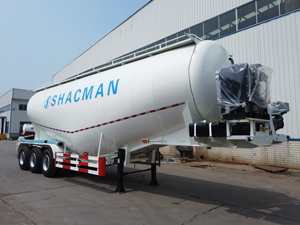 3 Axles 45 cubic meter bulk cement tanker trailer with 50 ton payload capacity