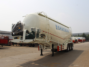 3 Axles 50cbm dry powder cement bulker trailer with 60 ton payload capacity